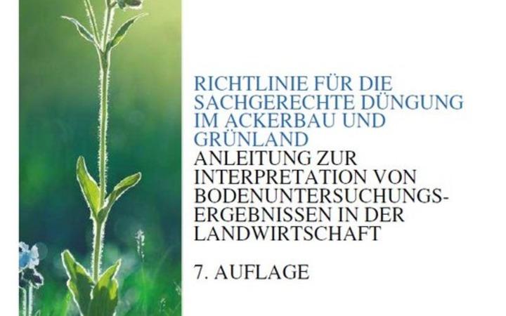 Richtlinie für die sachgerechte Düngung, 7. Auflage